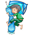 A simple sketch of a sleeping young man vector image vector image