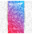 Abstract geometric triangles colorful modern backg vector image vector image