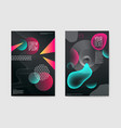 abstract trendy posters fluid geometric shapes vector image vector image