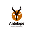 antelope silhouette wild animals vector image vector image