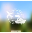 Around the world - blurred travel background vector image