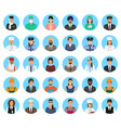 avatars characters people of different occupation vector image vector image