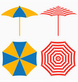 beach umbrella top and side view vector image vector image