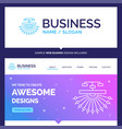 beautiful business concept brand name vector image vector image