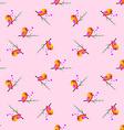 bird sparrow St Valentines Day Seamless pattern vector image