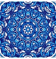 blue seamless ornamental pattern vector image vector image