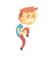 boy character with wound on his knee cartoon vector image vector image