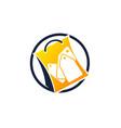 bundle shopping logo design template vector image vector image