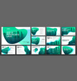 business presentation templates set vector image