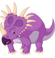 cartoon styracosaurus vector image
