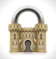 Castle Padlock vector image