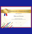 certificate template in sport theme with border vector image vector image