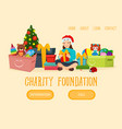 christmas charity foundation web banner character vector image vector image