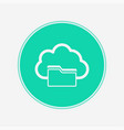 cloud computing concept icon sign symbol vector image