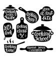 collection of cooking label or logo vector image