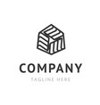 creative company logo design trendy symbol for vector image