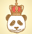 Crown Panda vector image