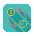 Currency exchange single flat icon vector image vector image
