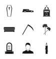 Death of person icons set simple style vector image vector image