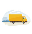 delivery service fast safe vector image vector image