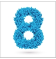 Eight 8 number vector image