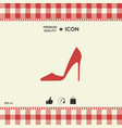 elegant women shoe vector image