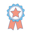 emblem with star inside and ribbon design vector image vector image