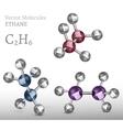 Ethane Molecule SET vector image vector image