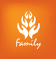 family icon in form hands vector image