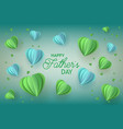 fathers day greeting card with trendy blue and vector image vector image