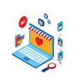 flat 3d isometric modern design shopping online vector image