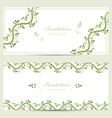 floral invitation cards for your design vector image