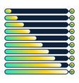fluid progress loading bar 100 90 80 70 60 50 40 vector image vector image