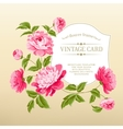 Frame with peonies vector image vector image