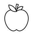 fresh fruit tasty apple icon thick line vector image