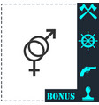 gender icon flat vector image