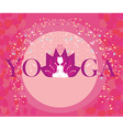 girl in lotus position - abstract card vector image