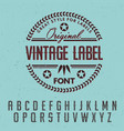 great style for labels poster vector image vector image