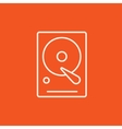 Hard disk line icon vector image vector image