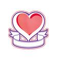 Loving heart Love conceptual symbol vector image vector image