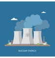 Nuclear power plant and factory Energy industrial vector image vector image