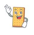 okay graham cookies character cartoon vector image vector image