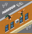 parkour isometric vector image vector image
