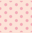 pink hexagon shape repeating seamless pattern vector image vector image