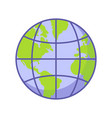 planet earthround ball flat vector image vector image