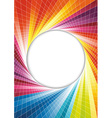 Rainbow spring background - circle vector image vector image