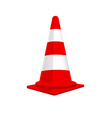 Red traffic cone vector image vector image