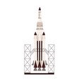 rocket ready to launch standing at station vector image vector image