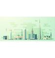 Saudi Arabia skyline world tallest building vector image vector image