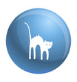 scary cat icon simple style vector image